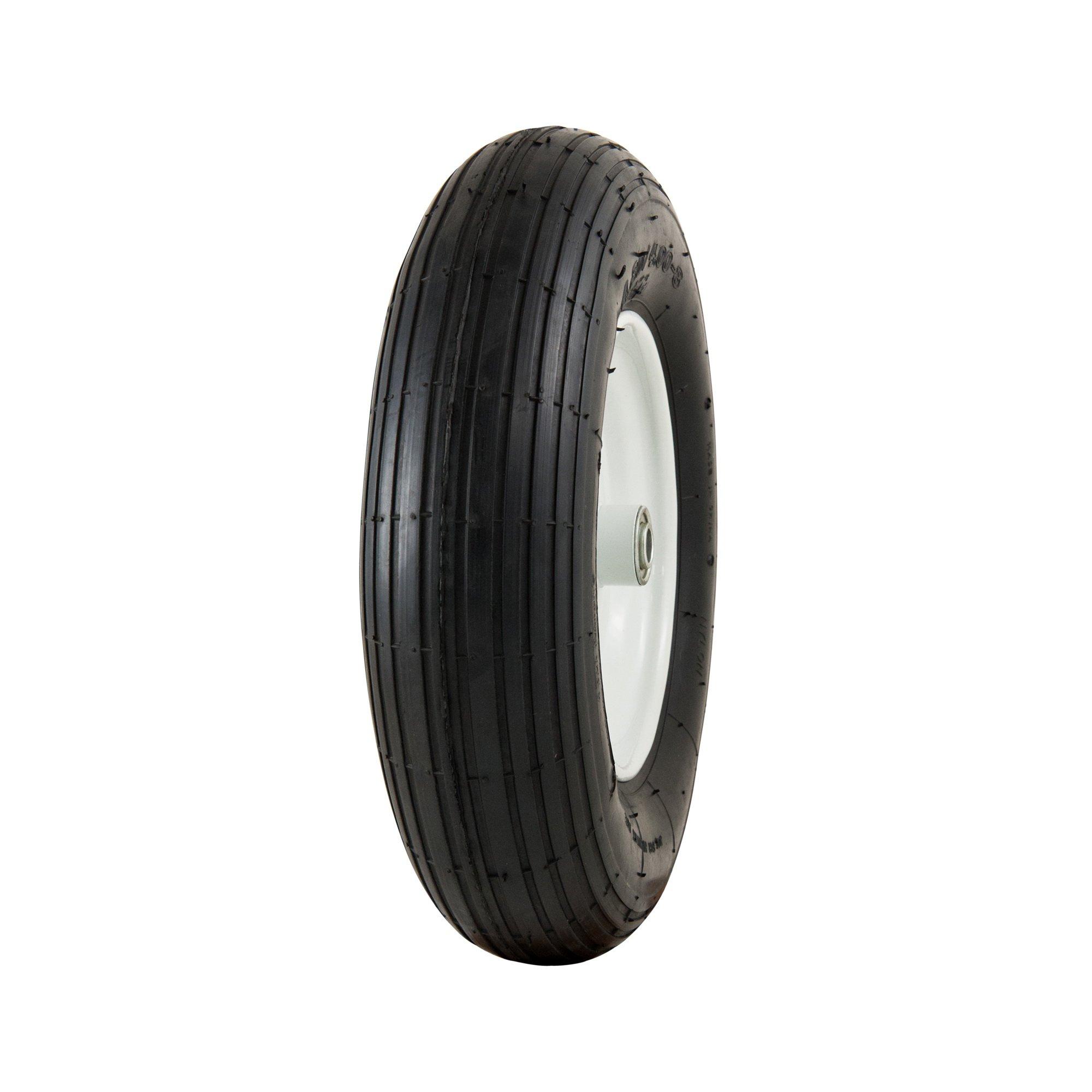Marathon 4.80/4.00-8'' Pneumatic (Air-Filled) Tire on Wheel, 3'' Hub, 5/8'' Bearings