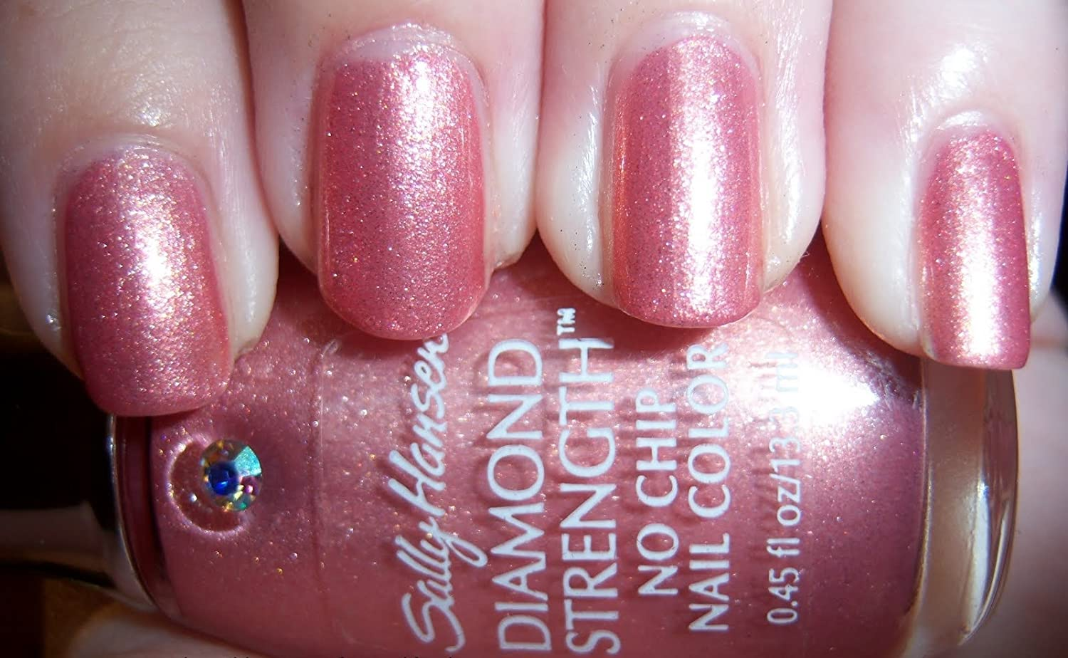 Amazon.com : Sally Hansen Diamond Strength Nail Enamel-Blushing ...