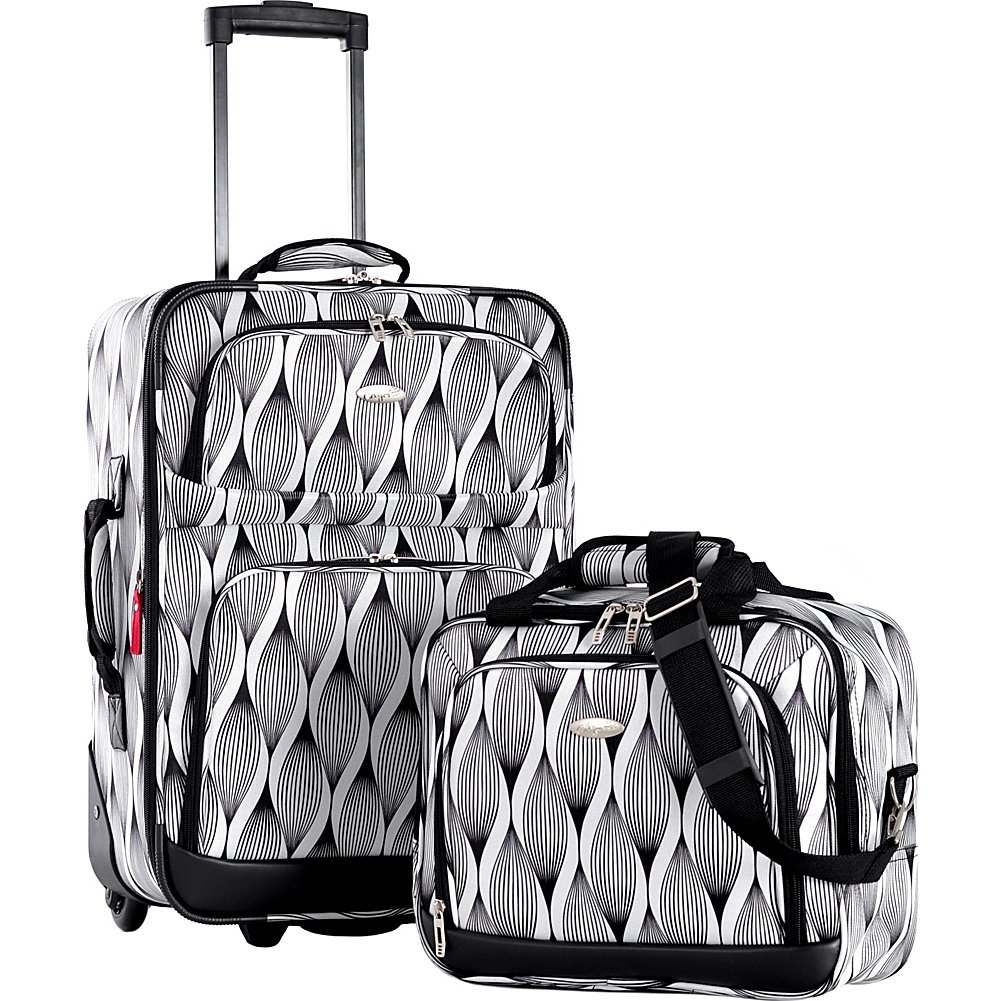 Olympia USA Lets Travel 2 Piece Carry On Luggage Set (Spiral)