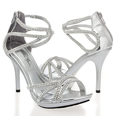 6d7f1016e4041c V-Luxury Womens 44-EYDIE82 Open Toe High Heel Stiletto Pump Sandals