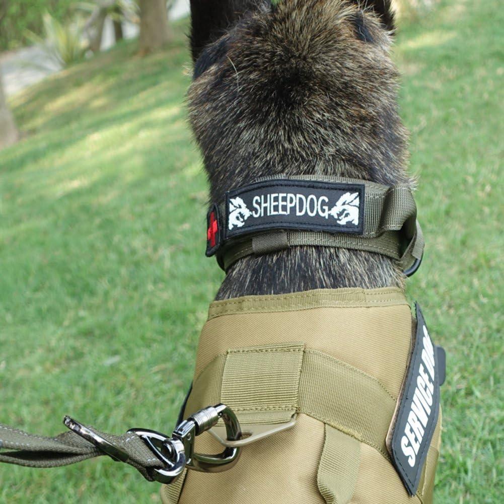 Meikai táctico K9 Servicio entrenamiento del perro chaleco arnés ...