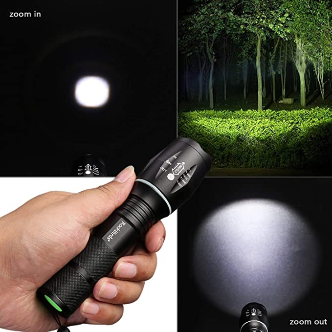 RockBirds Portable Ultra Bright Handheld LED Flashlight LED Flashlights T6-2PACK