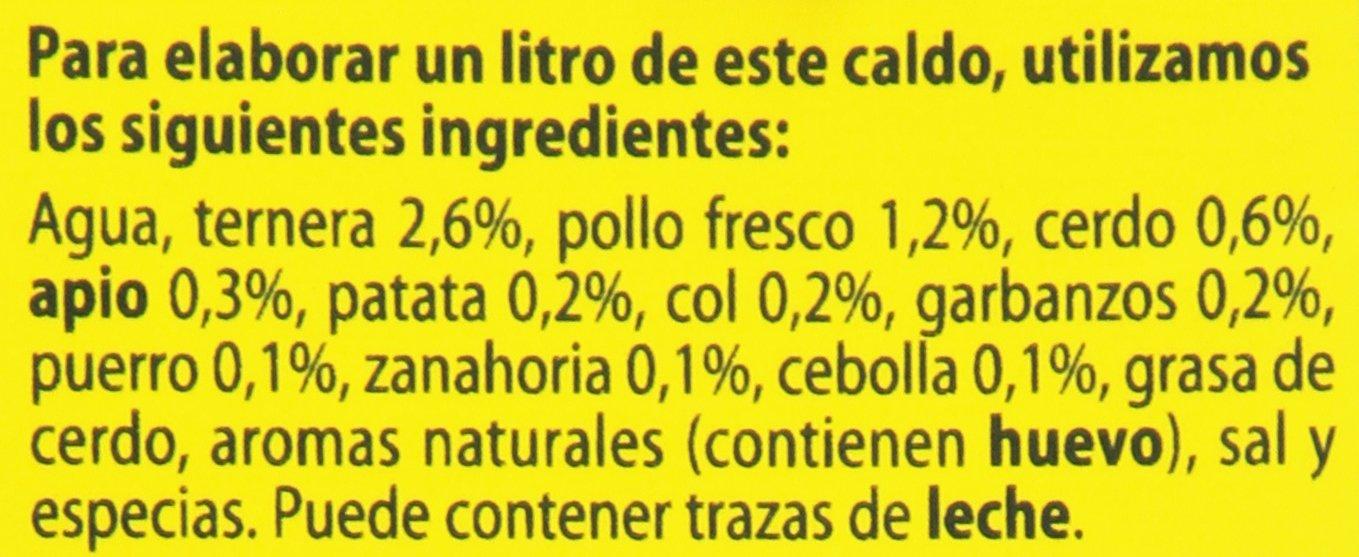 Gallina Blanca - Caldo casero de cocido - 100% Natural - 1 l: Amazon.es: Alimentación y bebidas