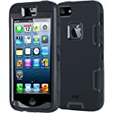 iPhone SE Case, Korecase Dual Guard Protection Series Case for iPhone 5 / 5s / SE - Black