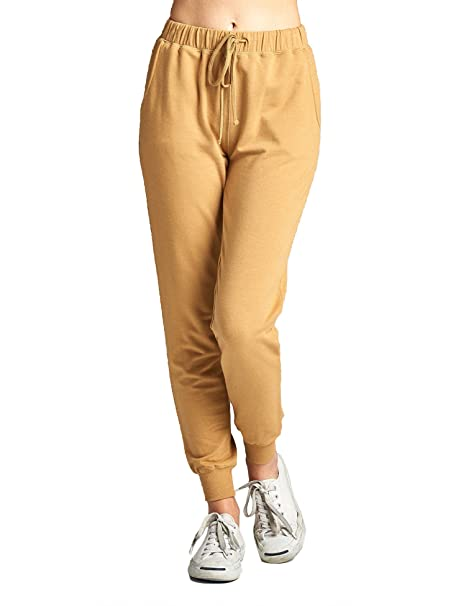 44b409d2a003f BOHENY Womens Two Tone French Terry Jogger Pants Plus Size (S-3X) at ...