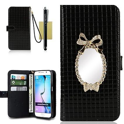 Amazon Com Galaxy S6 Case S6 Case Uncle Y Patent Pu Leather Grid