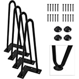 """Orgerphy 12"""" Black Heavy-Duty Hairpin Coffee Table Legs (4PCS) 