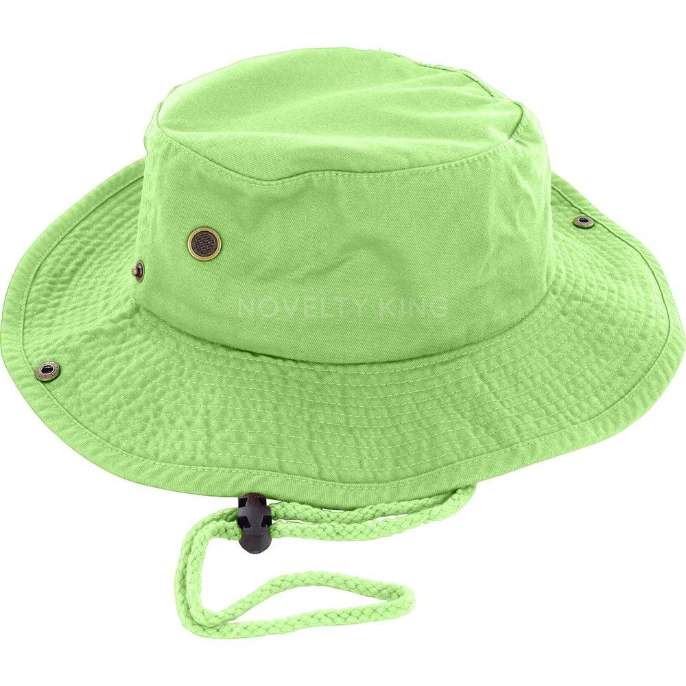 e1ae456bb547a DealStock 100% Cotton Boonie Fishing Bucket Men Safari Summer String Hat  Cap (15+