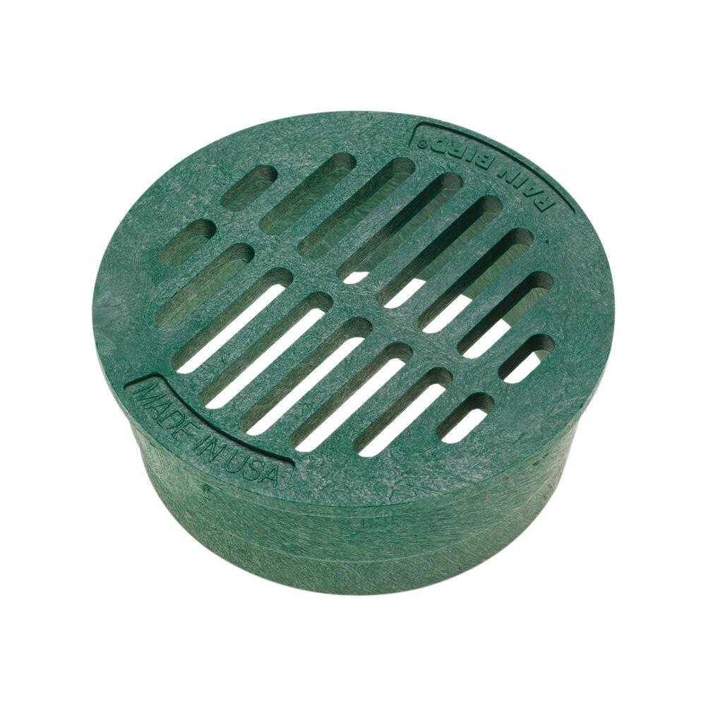 Rainbird Plastic Round Flat Grate, Green, 4''