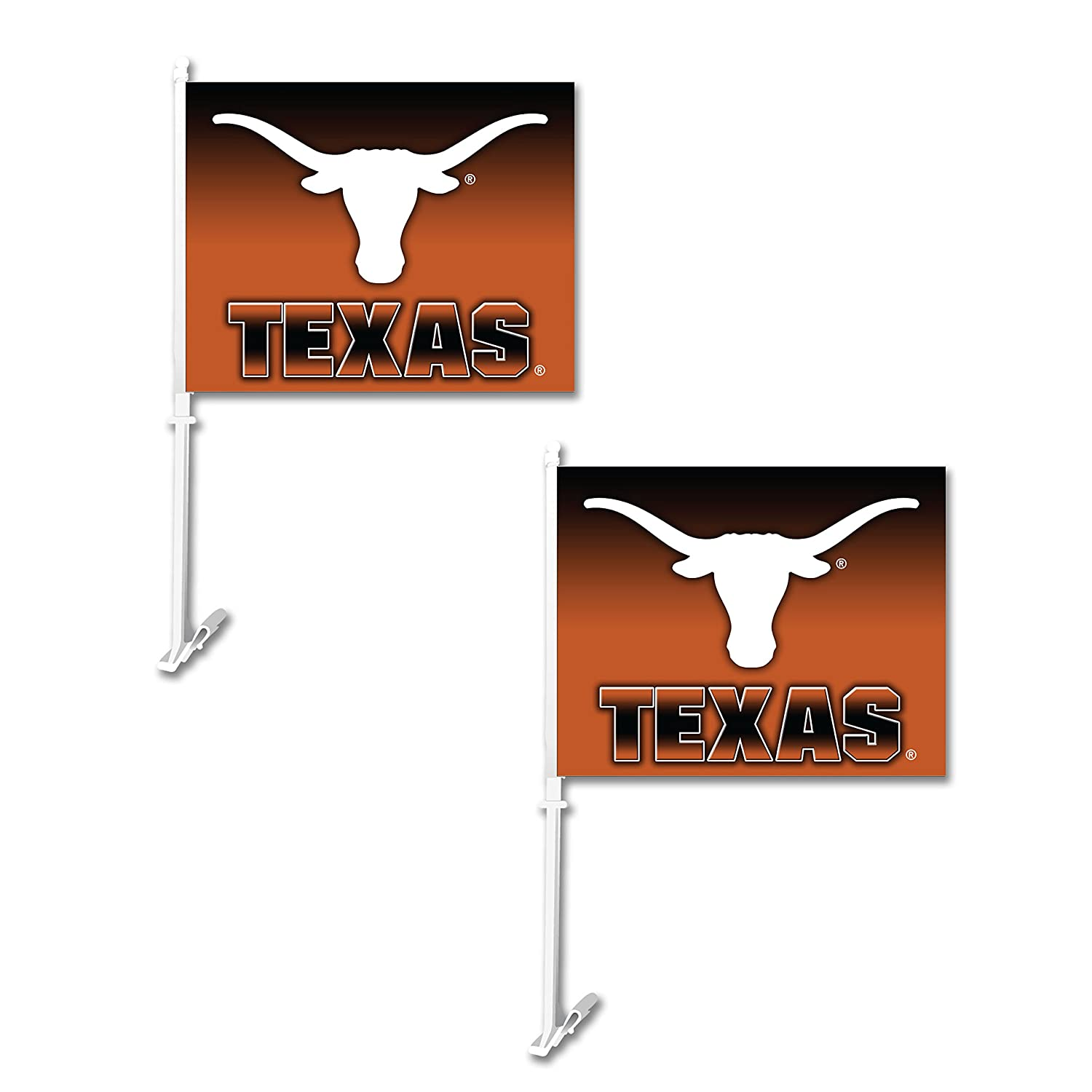 NCAA Texas Longhorns Ombre Car Flag (2 Pack), One Size, Orange Fulfillment Advantage Ventures Inc 192959801620