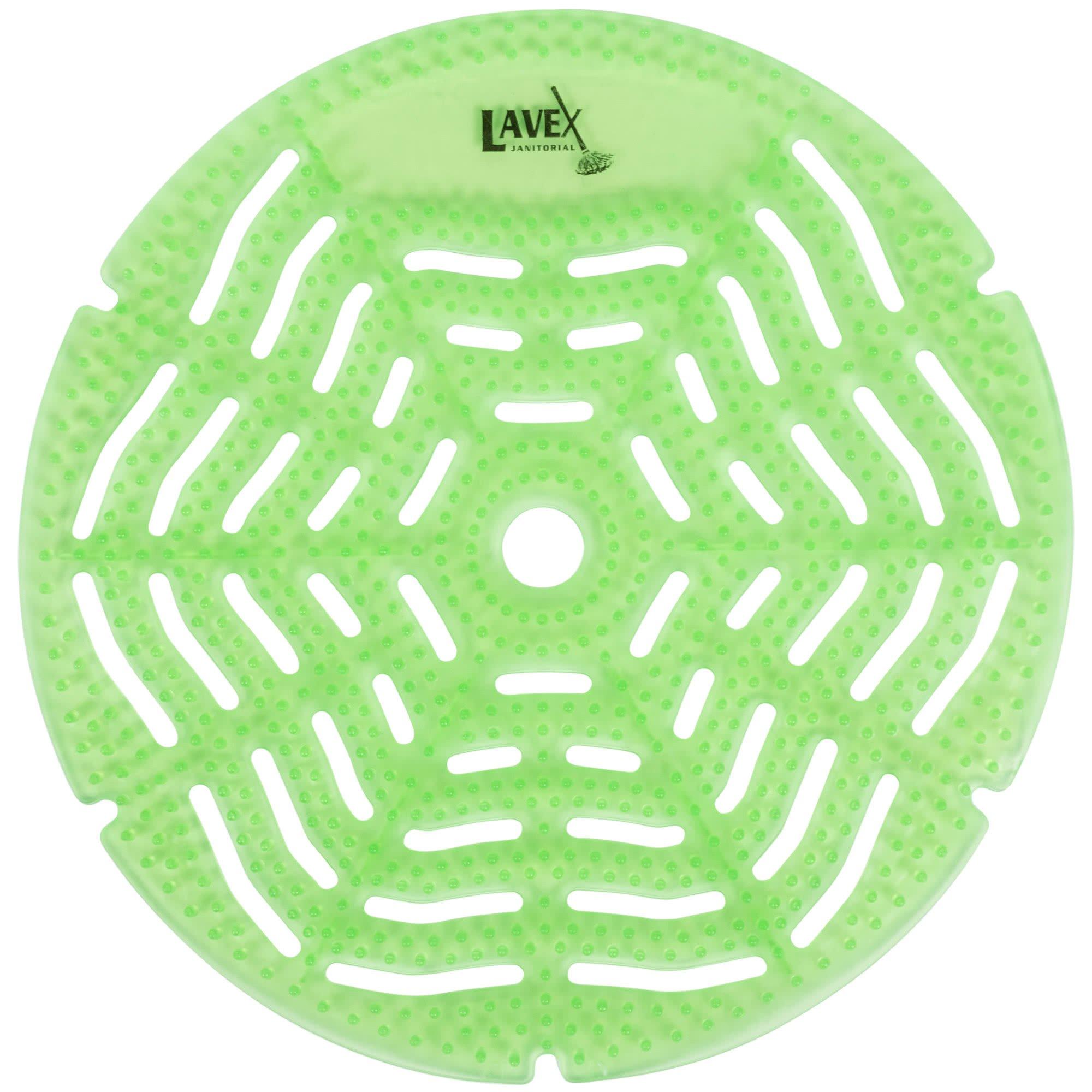 Lavex Gel Urinal Screen | Bathroom Deodorizing | Green Apple Scented 10 pack
