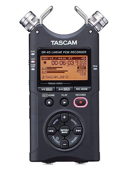 25ed43538d Amazon.com  Tascam DR-40 4-Track Portable Digital Audio Recorder  Musical  Instruments