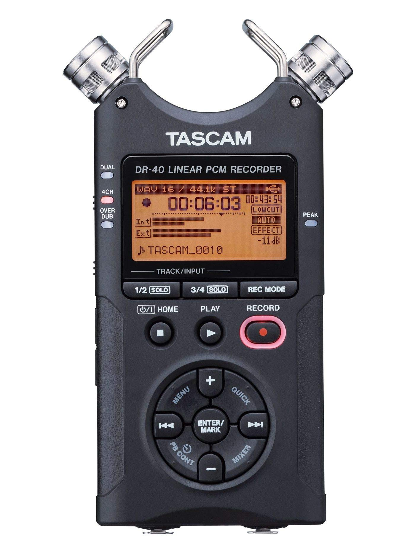 Tascam DR-40 4-Track Portable Digital Audio Recorder by Tascam (Image #1)