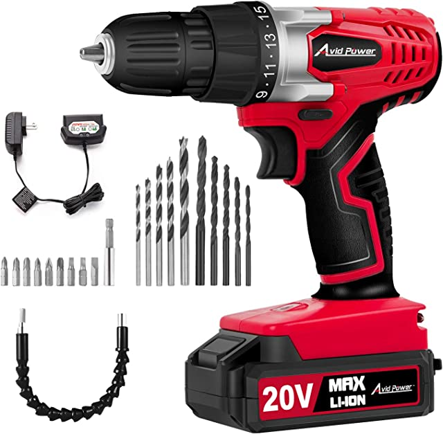 a power drill with all its tiny inserts