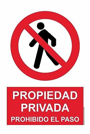 akrocard Cartel Resistente PVC - Prohibido EL Paso - Señaletica de Aviso - Ideal para Colgar y Advertir al transeúnte