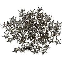 SNOWINSPRING 100pcs Silver Star Studs Nailheads 9mm