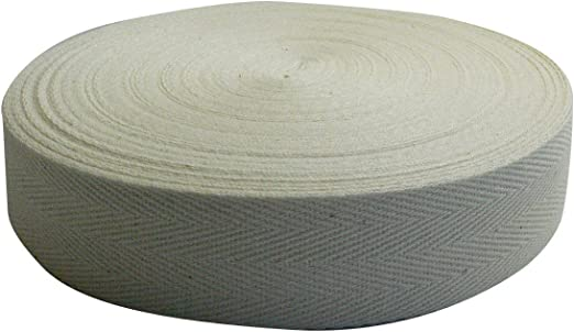 Cinta de espiga de algodón de 0.5 mm de espesor Ekuribegu 30 m (38 ...