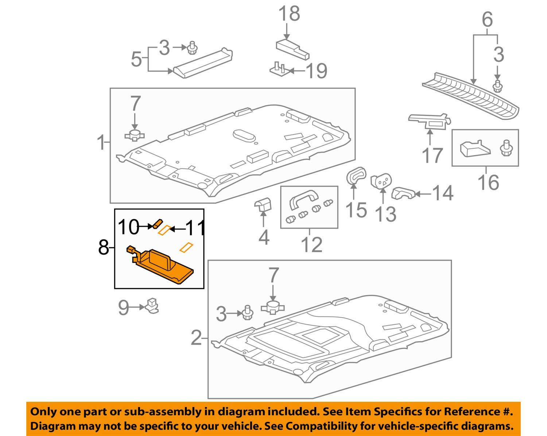 Honda Genuine 83230-SZA-A01ZB Sun Visor Assembly Right