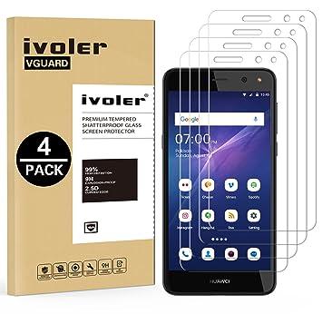 iVoler [4 Unidades] Protector de Pantalla para Huawei Y6 2017, Cristal Vidrio Templado Premium: Amazon.es: Electrónica