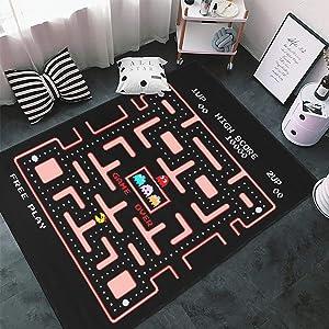 Arcade Video Funny Game Area Rug Non-Slip Carpets Floor Mat for Bedroom Living Room Home Decoration 4'x5.2'(Premium)