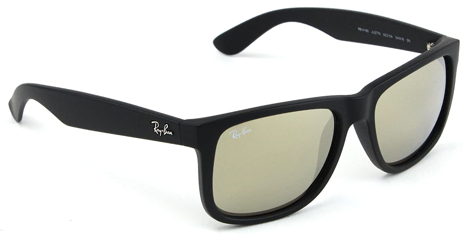 e7e6f6eec44d75 Amazon.com  Ray-Ban RB4165 Justin Color Mix Unisex Mirror Sunglasses 622 5A  - 55  Clothing
