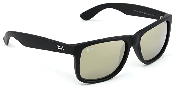 221485ede6 Image Unavailable. Image not available for. Color  Ray-Ban RB4165 Justin  Color Mix Unisex Mirror Sunglasses 622 5A ...