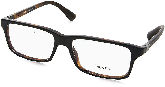 ec1fa92b83090 Prada Montures de lunettes Pour Homme 06S V - UBH-1O1  Black   Matte ...