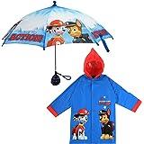 Nickelodeon boys Paw Patrol Character Slicker and Umbrella Rainwear Set Umbrella - blue - Age