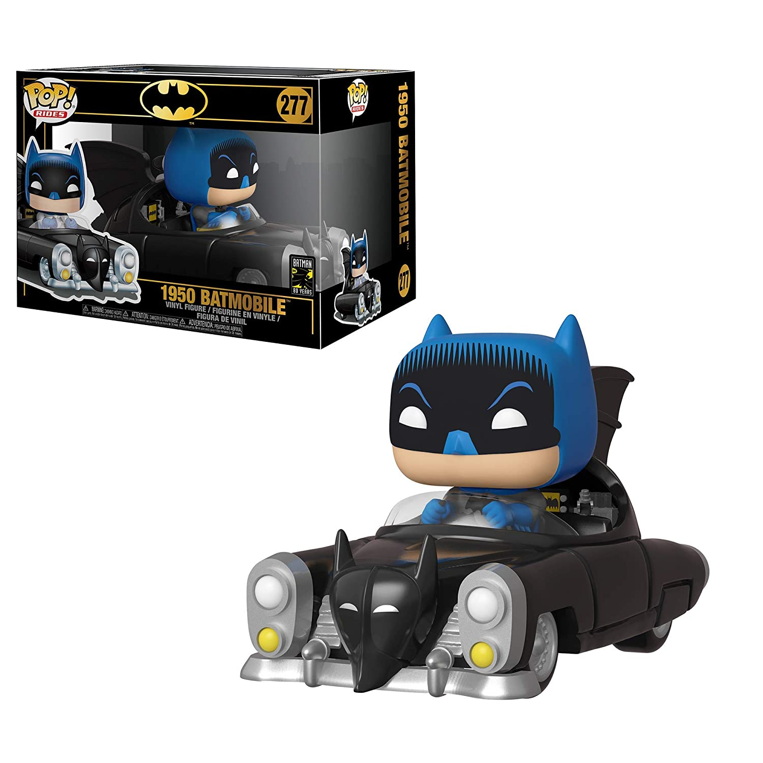 Funko- Pop Rides 80th: Batman (1950) Figura Coleccionable, Multicolor (37252)