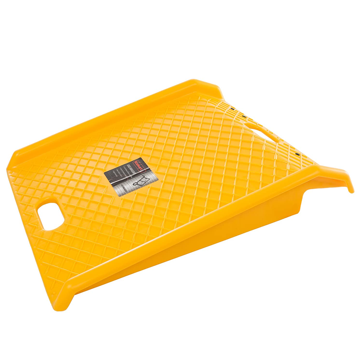Stalwart Curb Ramp, Portable Poly Ramp With 1000lbs Weight Capacity (For Delivery, Hand Truck, Carts, Wheelchairs, Walkers) (Yellow)