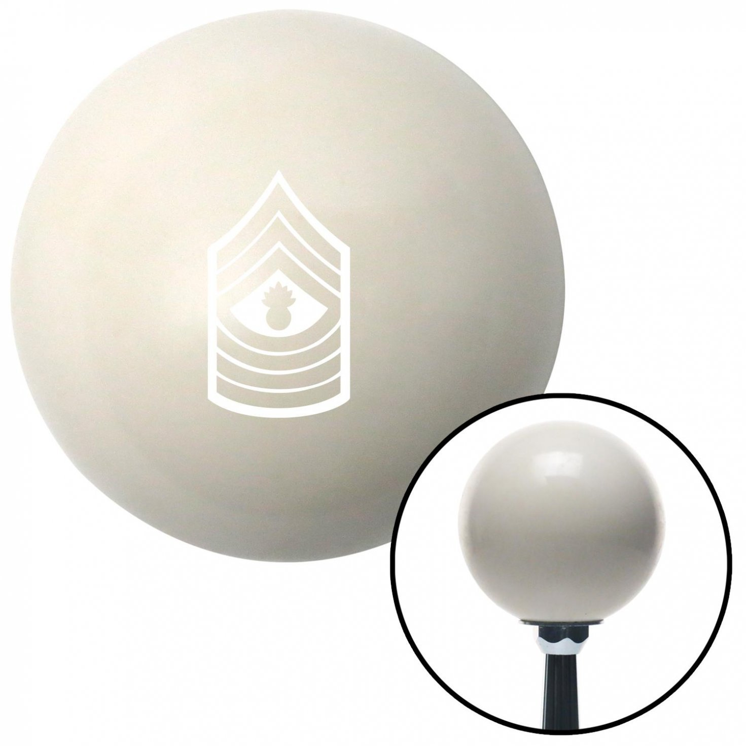 White 09 Master Gunnery Sergeant American Shifter 40754 Ivory Shift Knob with 16mm x 1.5 Insert