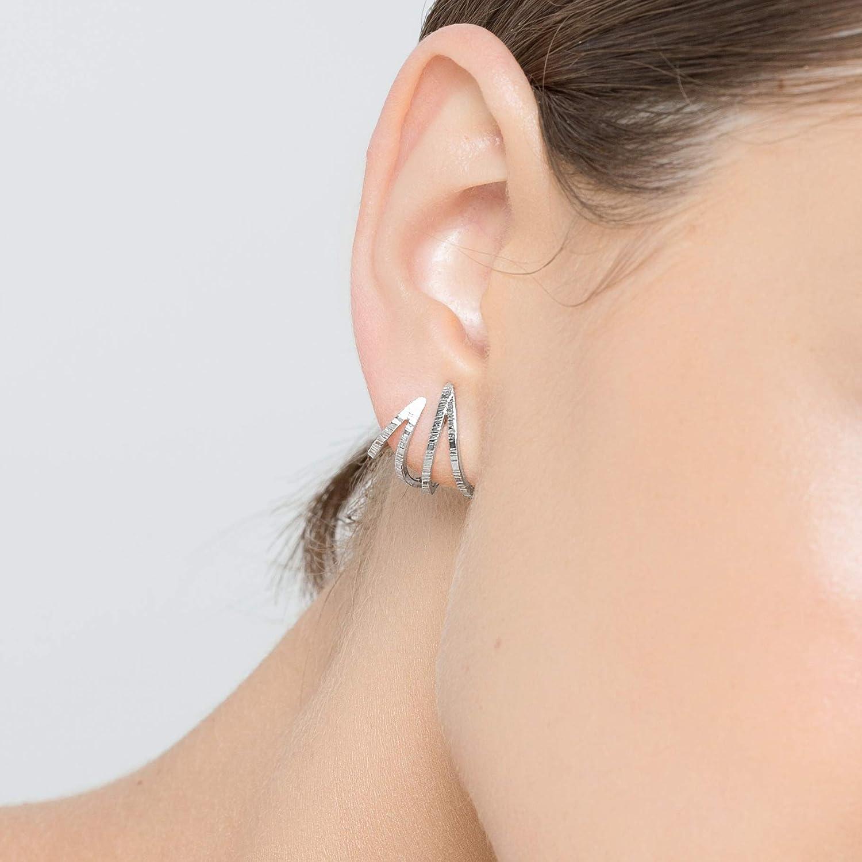 Geometric silver earrings Sterling silver earrings