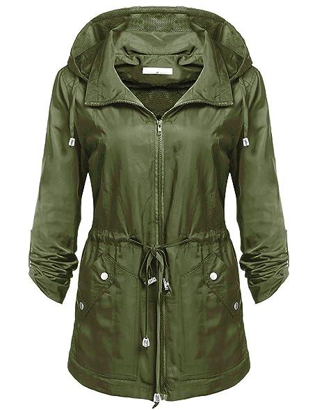 Black hooded drawstring utility jacket