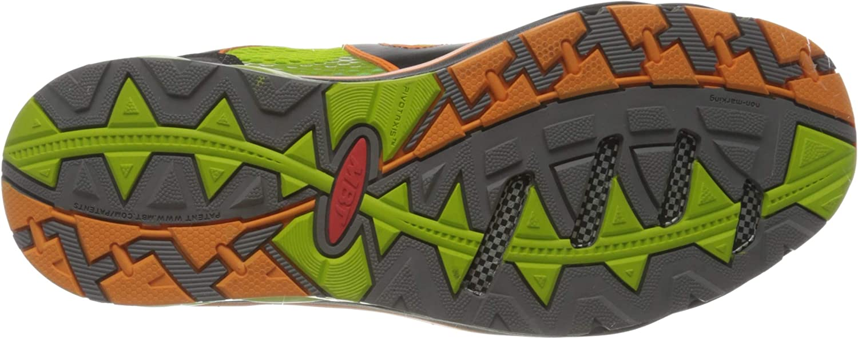 MBT Men's Sabra Trail Lace Up Fitness Shoes Multicoloured Lime Orange Peel Black