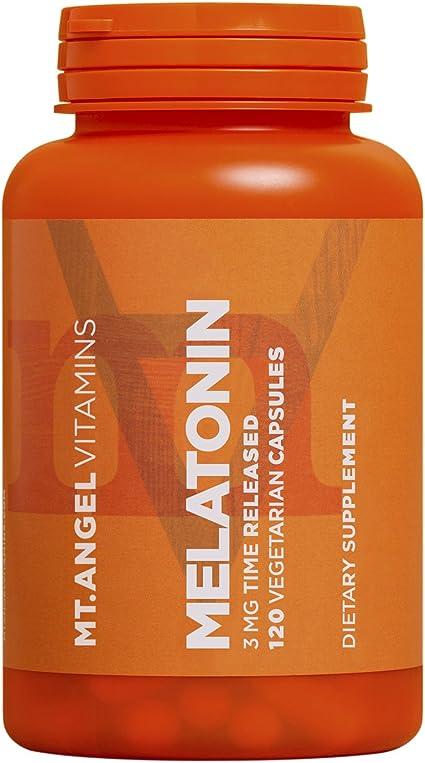 Amazon.com: MT. Ángel Vitaminas – Melatonina, 3 mg Tiempo ...