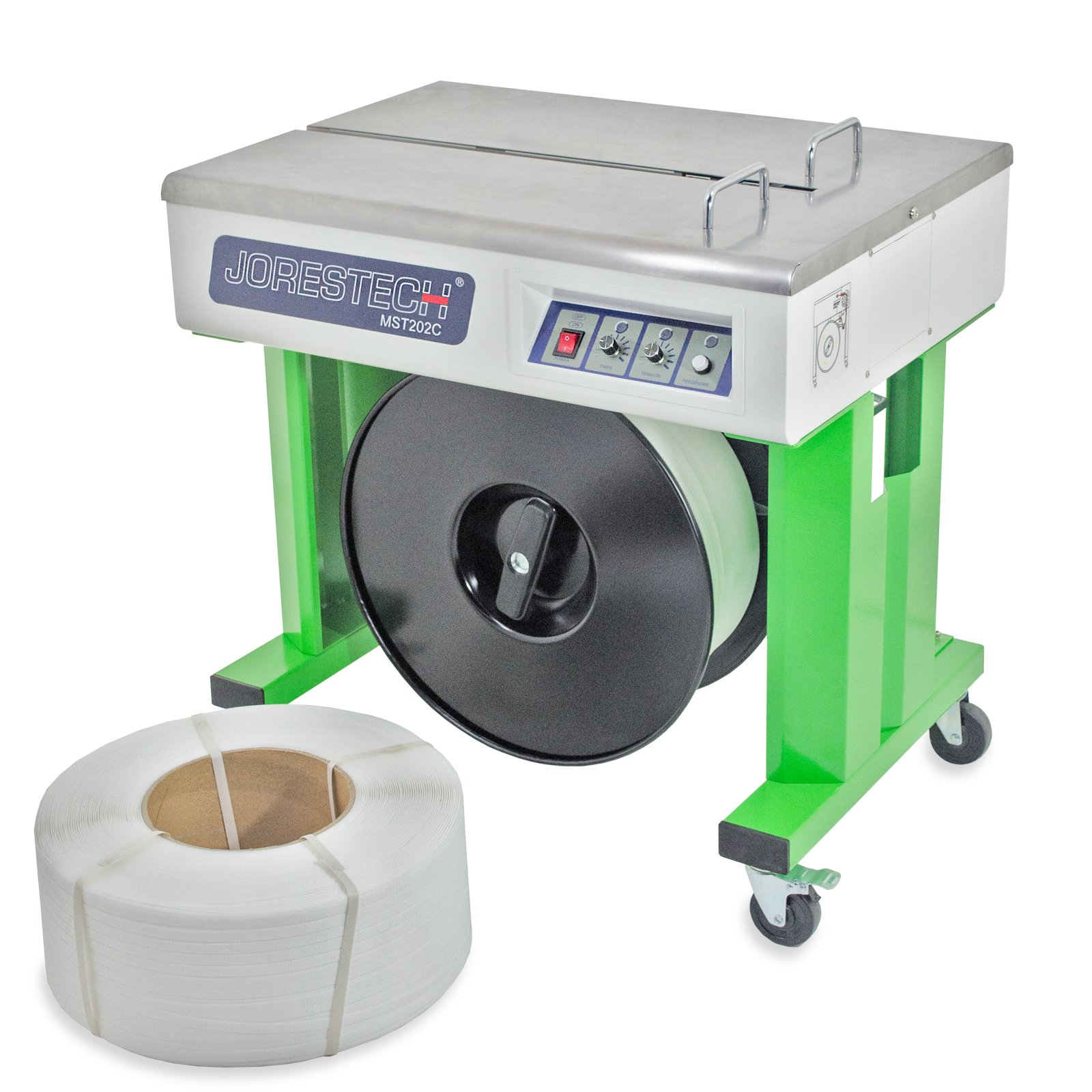 JORESTECH Semi-Automatic Strapping Machine + 2 Coils Free