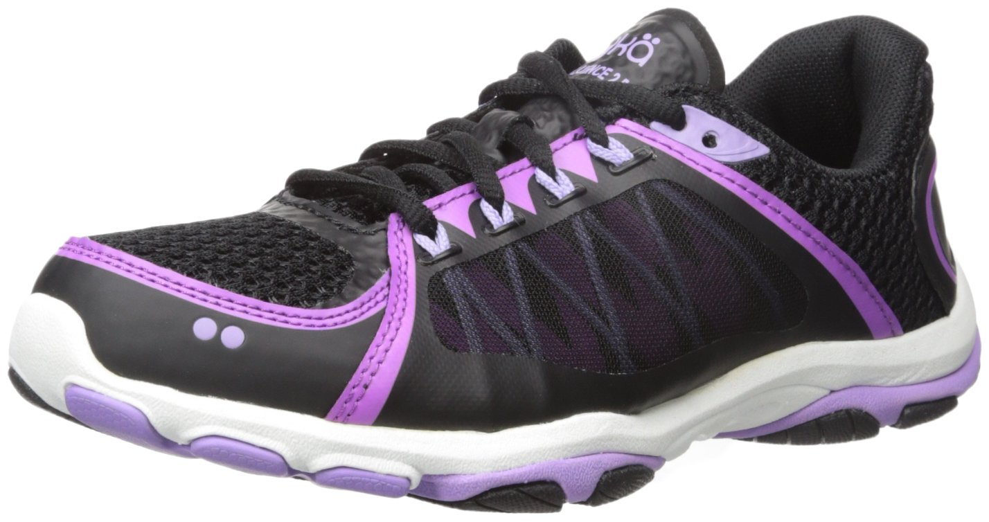 Ryka Women's INFLUENCE2.5 Cross-Trainer Shoe B01AHEGLK6 8.5 B(M) US|Black/Purple