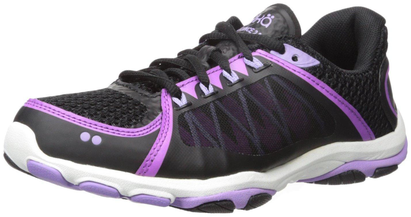 Ryka Women's influence2.5 Cross-Trainer Shoe, Black/Purple, 6 W US