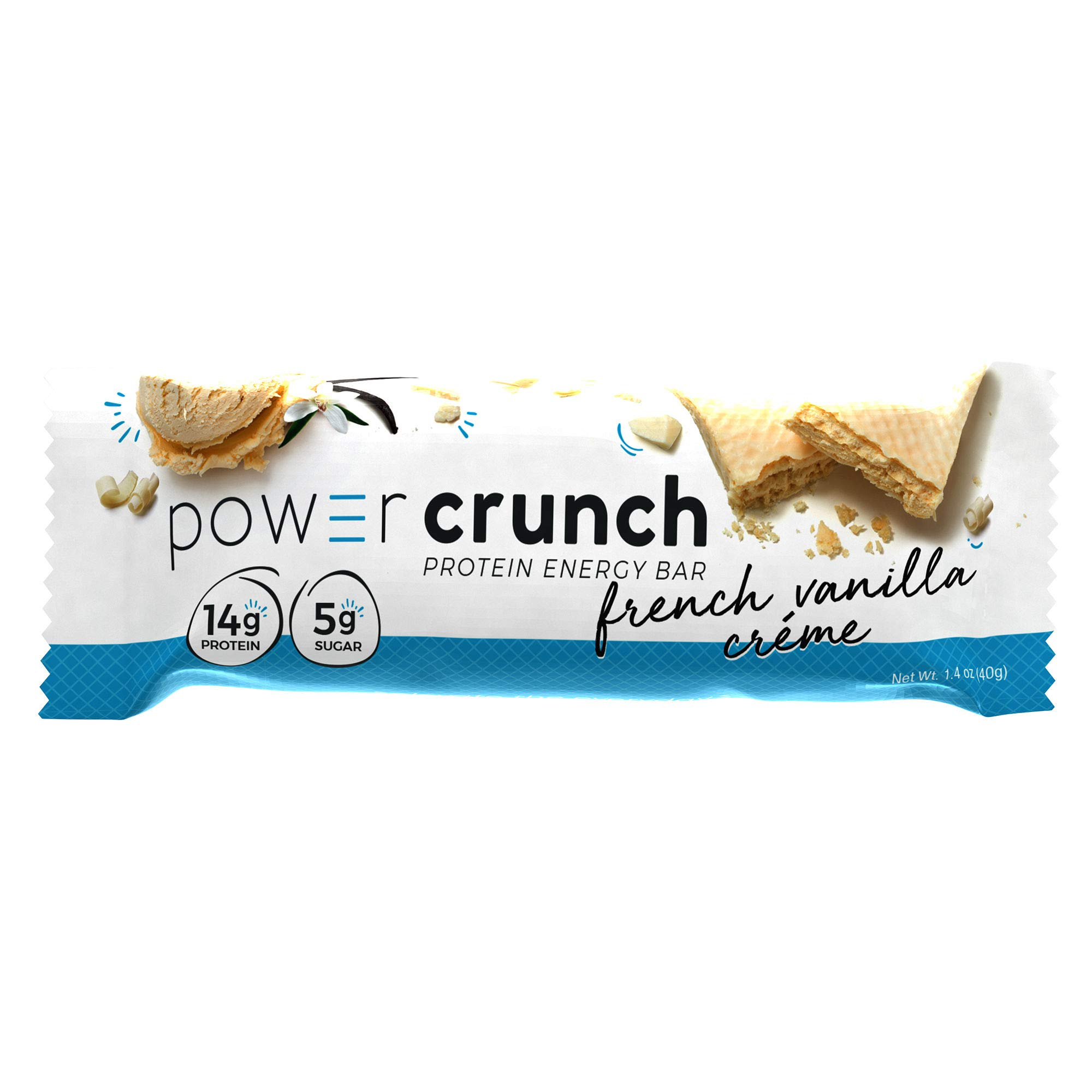Power Crunch High Protein Energy Snack 1.4-Ounce Protein Bars (20 French Vanilla) by Power Crunch (Image #1)