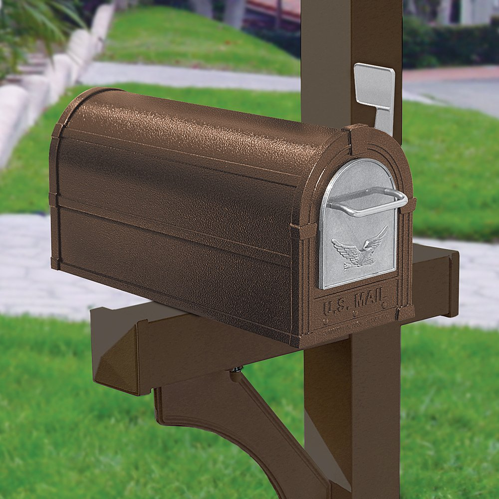 Salsbury Industries 4855E-BZS Eagle Rural Mailbox, Bronze/Silver Eagle by Salsbury Industries