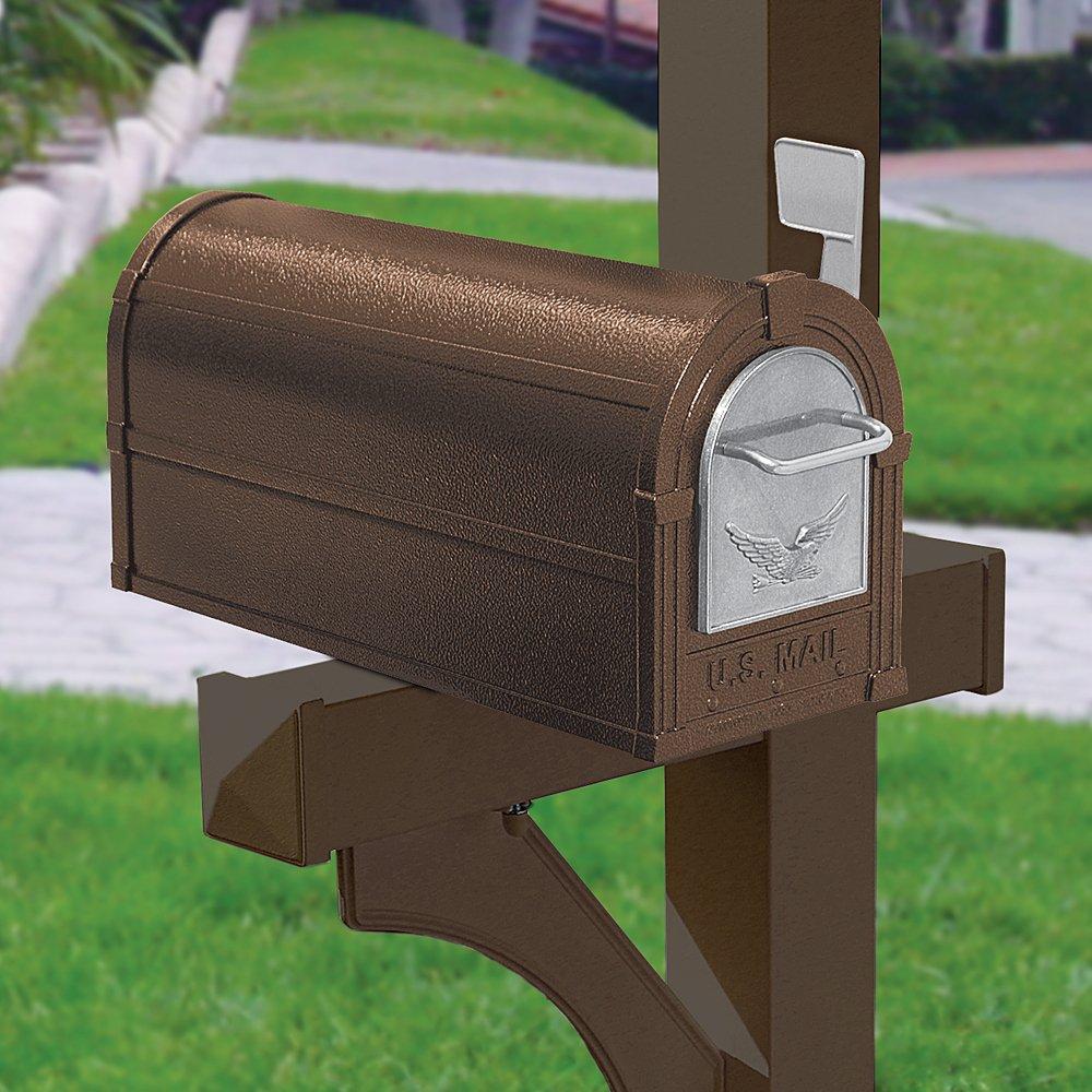 Salsbury Industries 4855E-BZS Eagle Rural Mailbox, Bronze/Silver Eagle