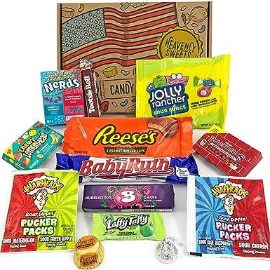 Mini caja de American Candy | Caja de caramelos y Chucherias Americanas | Surtido de 13 artículos incluido Reeses Baby Ruth Nerds Laffy Taffy | ...