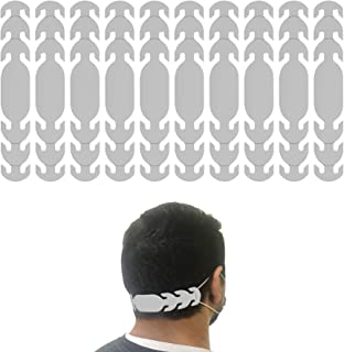product image for Ear Strap Extender for Masks with 3 Slots to Fit All (Made in USA) Color Options (10 Pieces) (Frost)