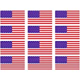"(12 PACK) USA AMERICAN FLAG vinyl Hard Hat Helmet decal - size: 2"" X 1"" - Hard Hat, Helmet, Windows, Walls, Bumpers…"