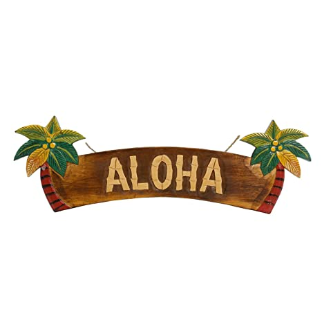 Aloha Puerta Cartel Cartel para pared decoración Cartel de ...