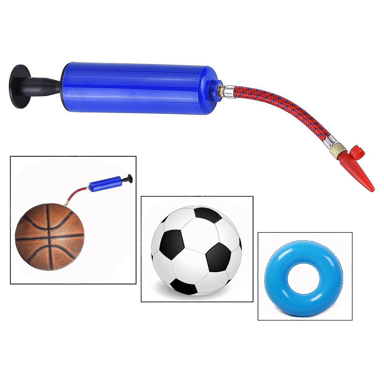 Itian Football Pump, Life Buoy Inflator Pump, Needles Valve Adapter Set for Basketball Football (Blue)