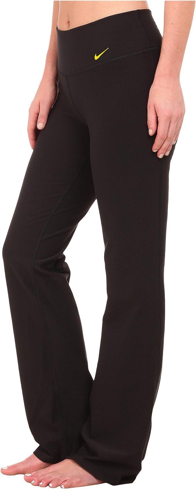 Nike para Mujer DRI-FIT tamaño pequeño Kickflare Negro Pantalones ...