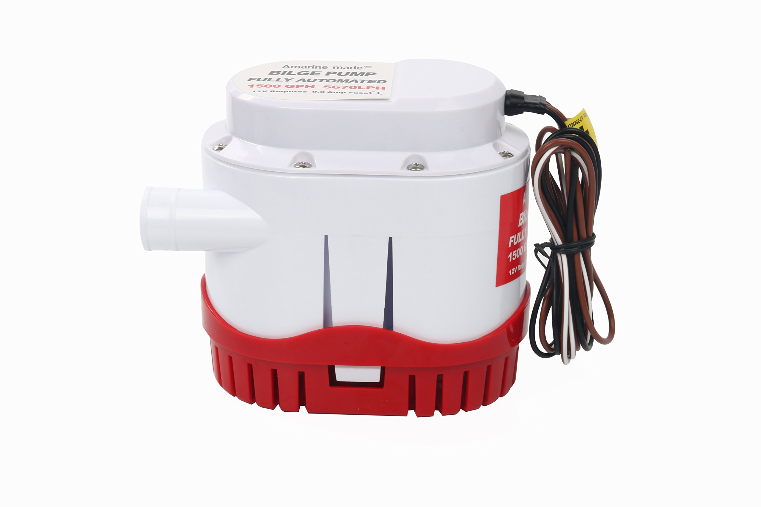 Amarine-made Automatic Submersible Boat Bilge Water Pump 12v 1500gph Auto with Built-in Float Switch