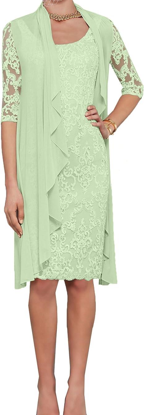 Charmant damska szampańska koronka sukienka wieczorowa sukienka etui sukienka dla matki panny młodej z długim rękawem bolerko: Odzież