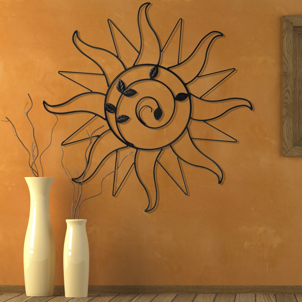 Amazon.com : Plastec WD200DB Sun Sprout Dark Bronze Wall Decor : Wall  Sculptures : Garden U0026 Outdoor